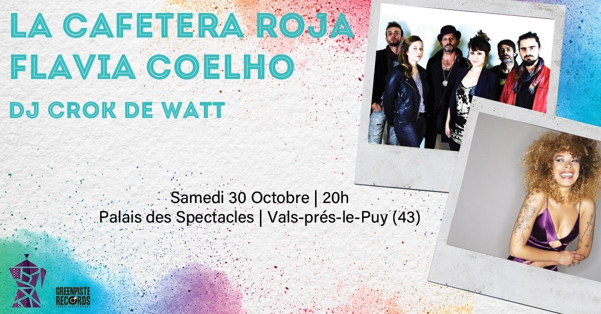 Flavia Coelho + La Cafetera Roja + Dj Crok De Watt 10 ans de Green Piste Records